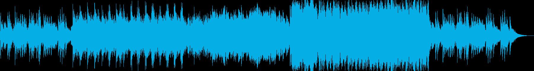 和風の後半盛り上がるオーケストラ曲の再生済みの波形