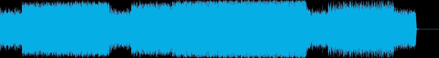暗く激しい逃げまとう怪しいイメージの再生済みの波形