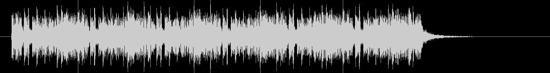 ユニークであり木琴が印象的なBGMの未再生の波形