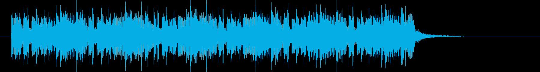 ユニークであり木琴が印象的なBGMの再生済みの波形