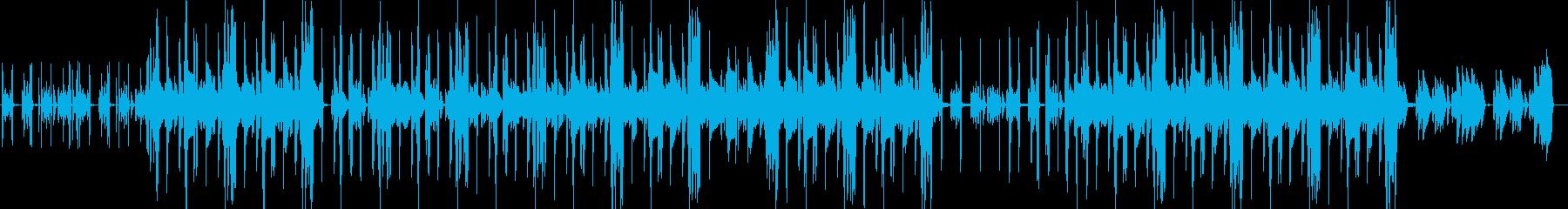 カフェで作業中に聞きたくなるBGMの再生済みの波形
