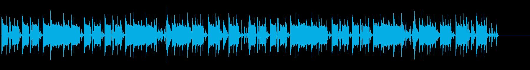 間抜けなリコーダーBGMの再生済みの波形