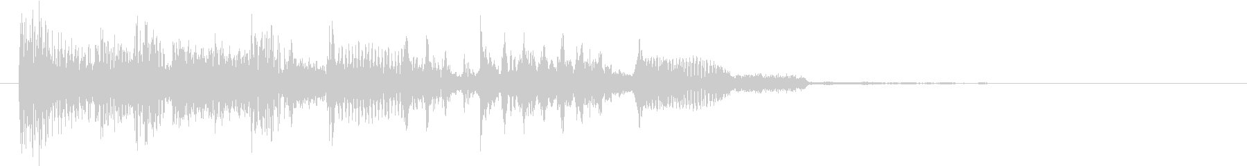 パワフル&重低音のエレクトロニックロゴの未再生の波形