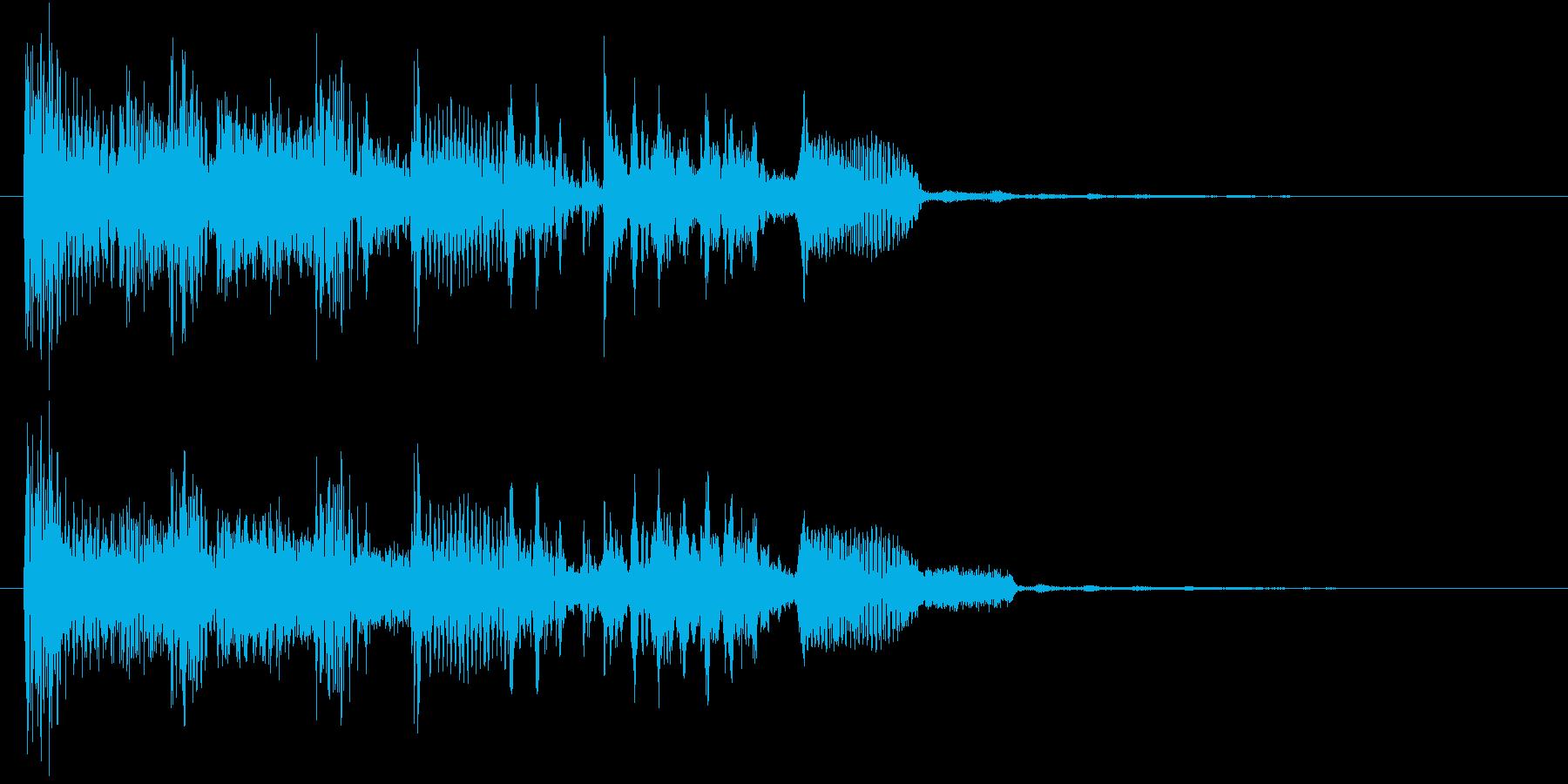 パワフル&重低音のエレクトロニックロゴの再生済みの波形