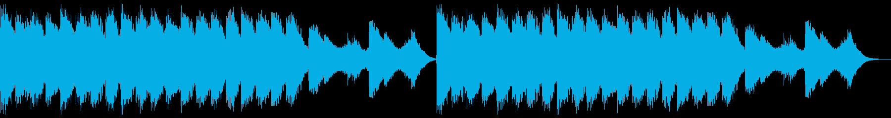 不気味な和風ホラーBGMの再生済みの波形