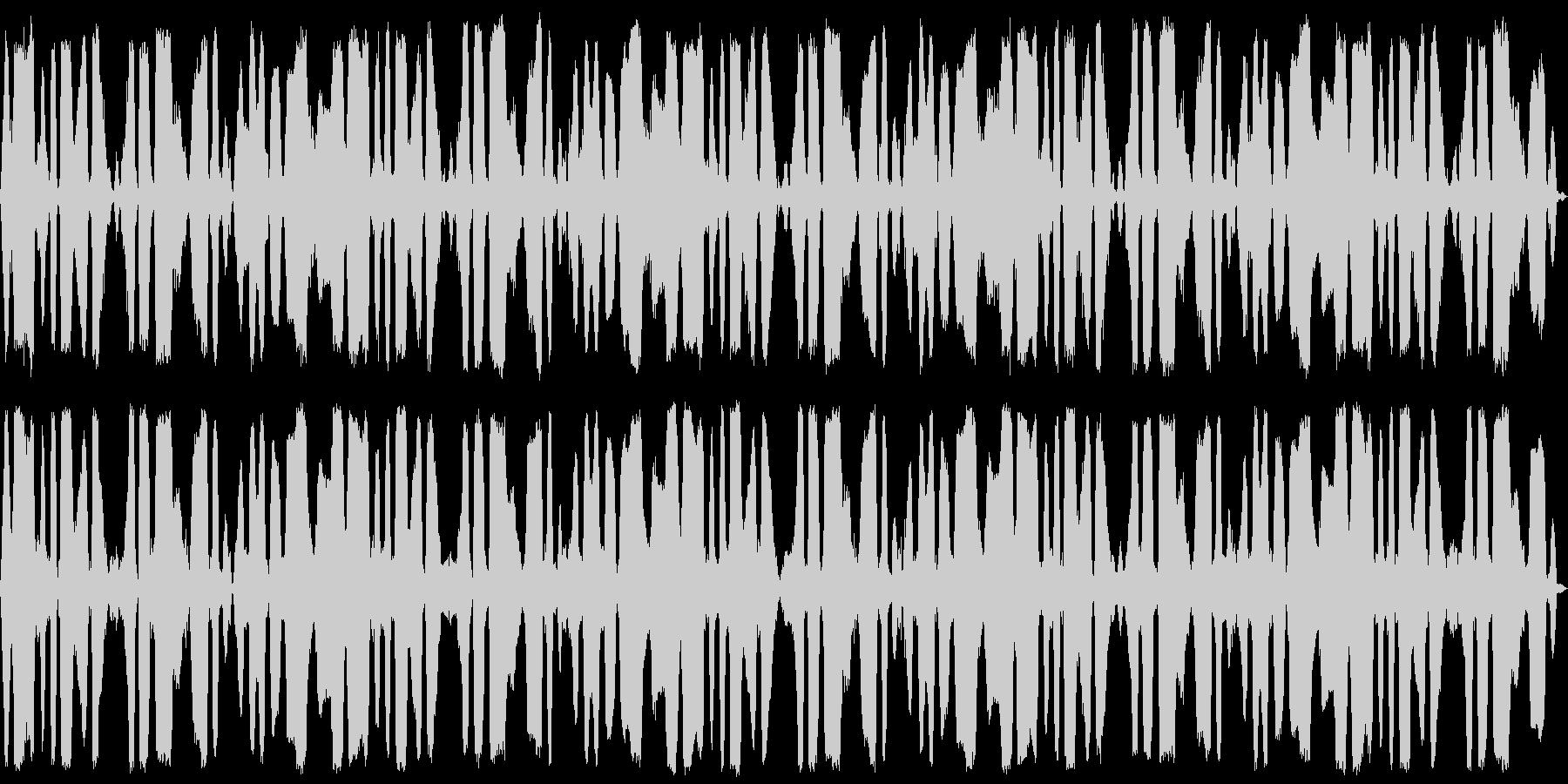 5分間の鈴虫・自然・環境音の未再生の波形