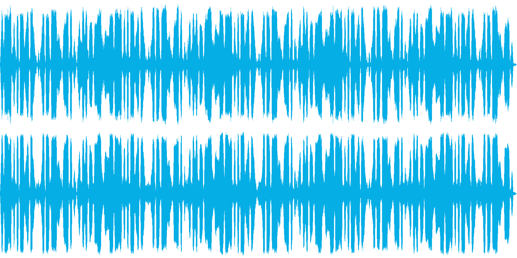 5分間の鈴虫・自然・環境音の再生済みの波形