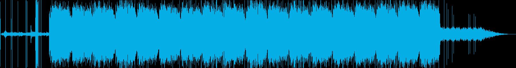 深海や宇宙な感じのエレピとノイズの再生済みの波形