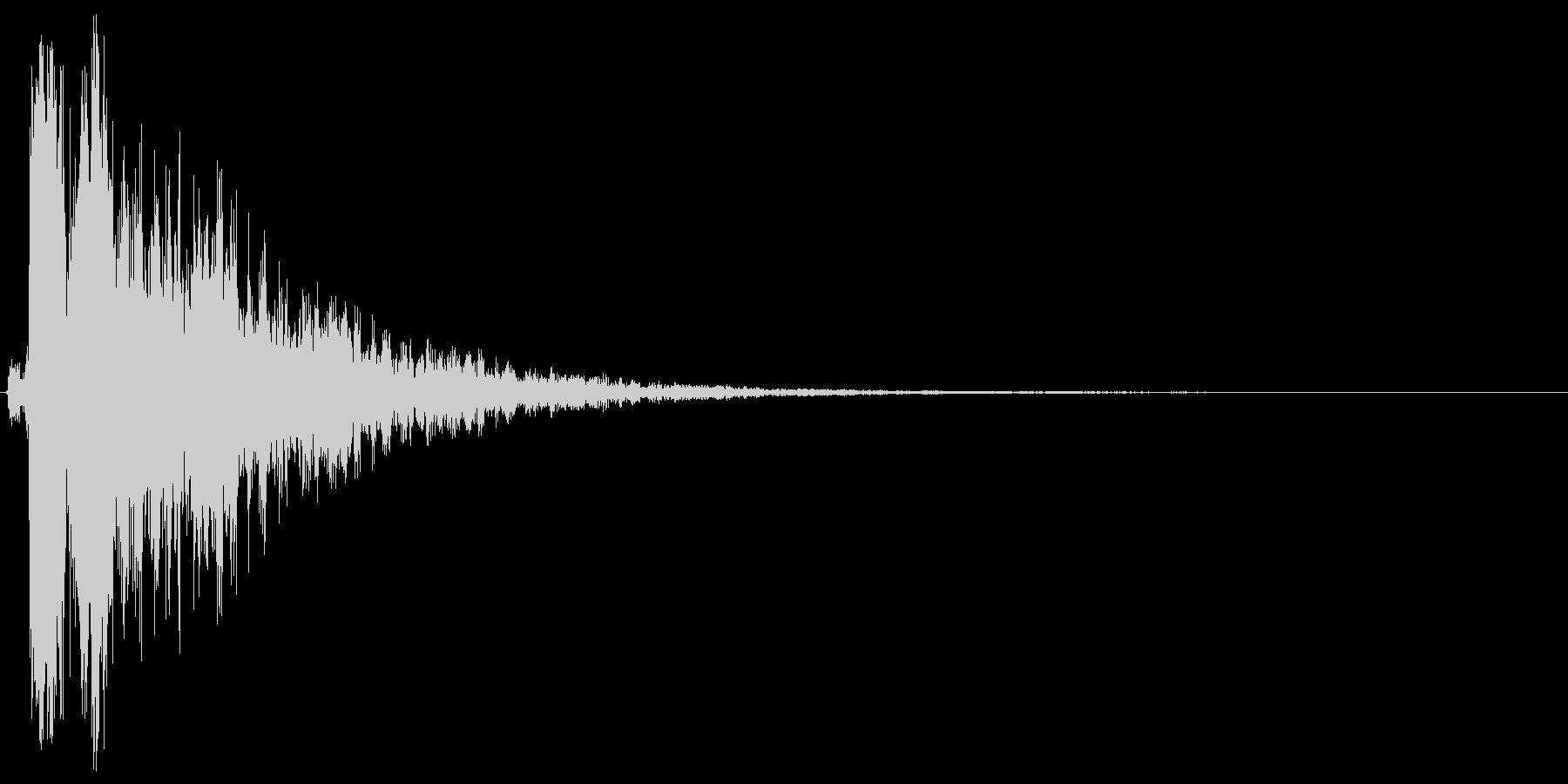 シャーン。きらめく・テロップ音(鈴・低)の未再生の波形