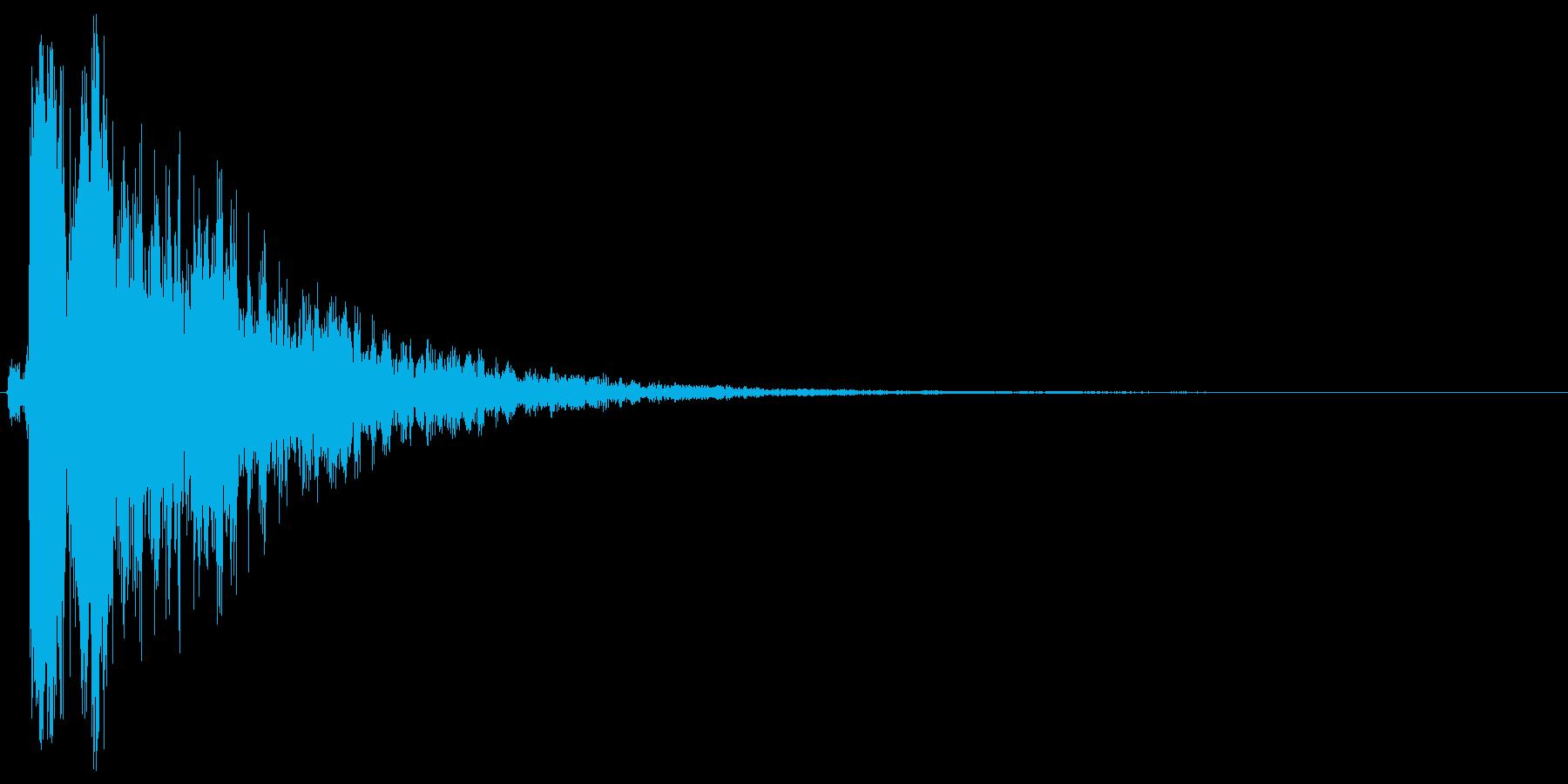 シャーン。きらめく・テロップ音(鈴・低)の再生済みの波形