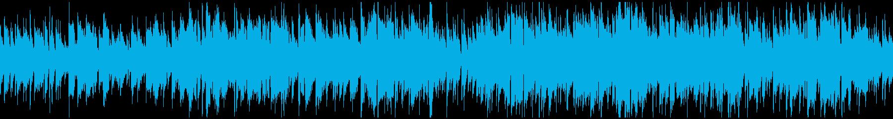 ゆったり系ボサノバ、カフェ ※ループ版の再生済みの波形
