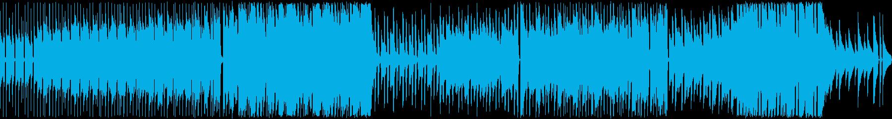 陽気でどこか呑気なアコーディオンBGMの再生済みの波形
