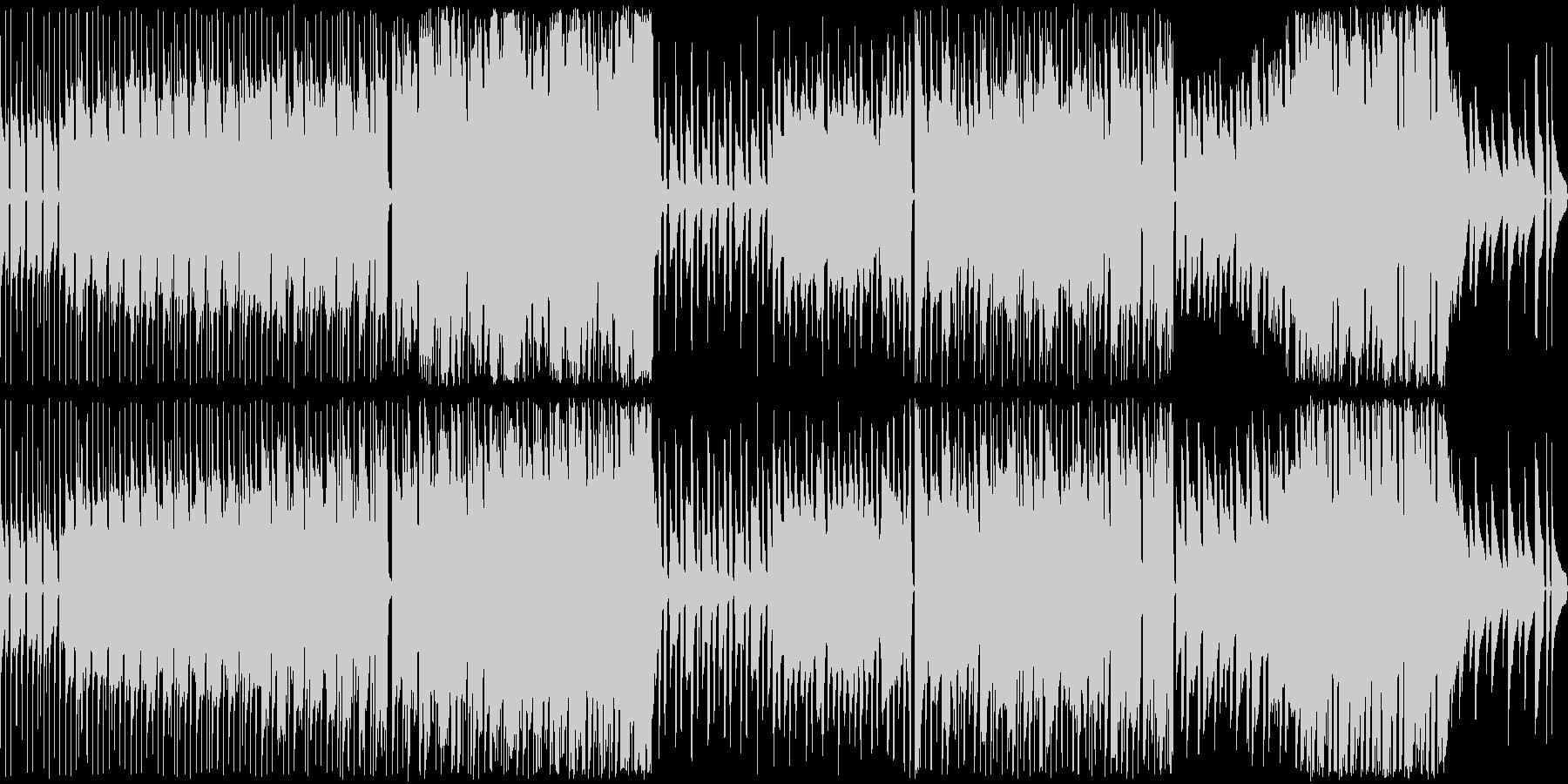 陽気でどこか呑気なアコーディオンBGMの未再生の波形