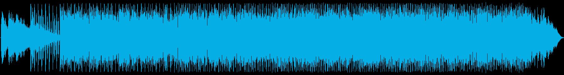 小気味よいラテン+ラウンジテイスト楽曲の再生済みの波形