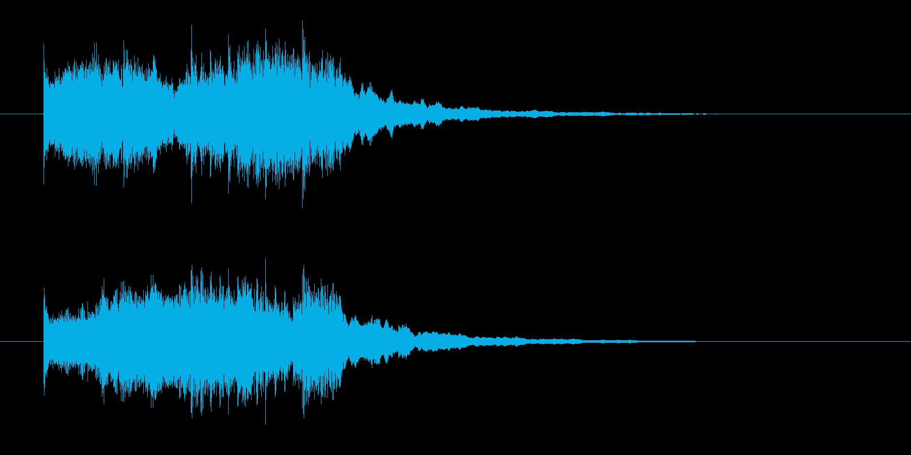ワイルドでロックなドラムとエレキジングルの再生済みの波形
