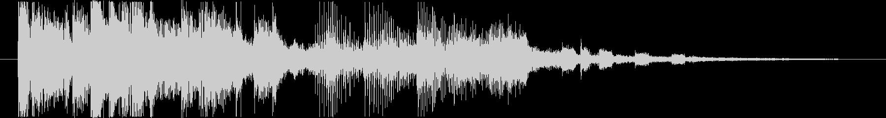今風でファッショナブルなサウンドロゴの未再生の波形