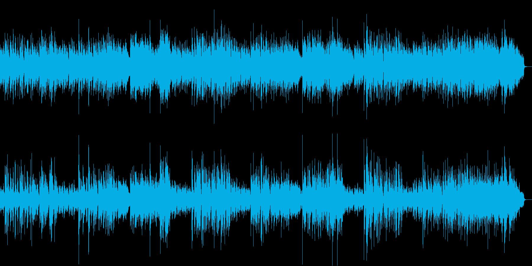 なめらかでゆったりしたギターメロディーの再生済みの波形