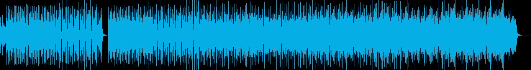 大都市夜景のファンキーサウンドの再生済みの波形
