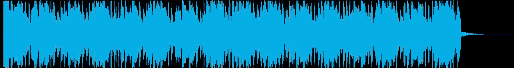 ニュースや情報番組のアイキャッチ風ポップの再生済みの波形