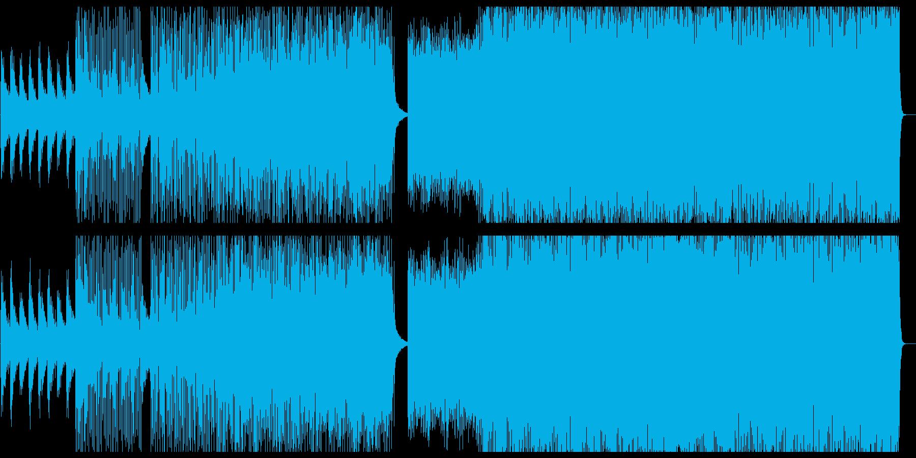 アップテンポで煌びやかなテクノビートの再生済みの波形