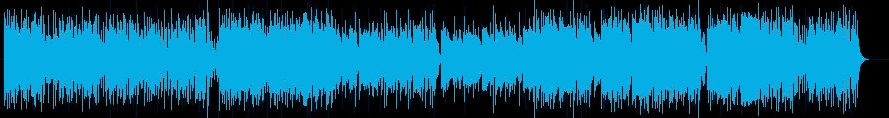 跳ねるようなリズムのシンセポップの再生済みの波形