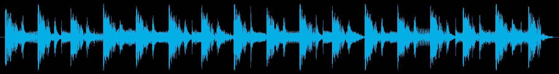 ベース生演奏のクールスラップジングル01の再生済みの波形