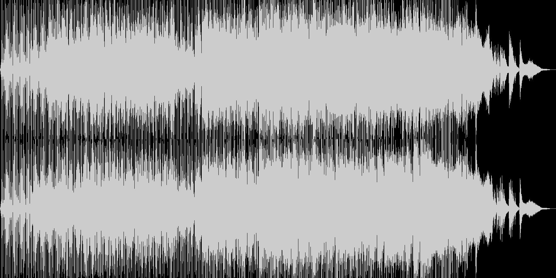 ミステリアスで無機質なヒップホップの未再生の波形