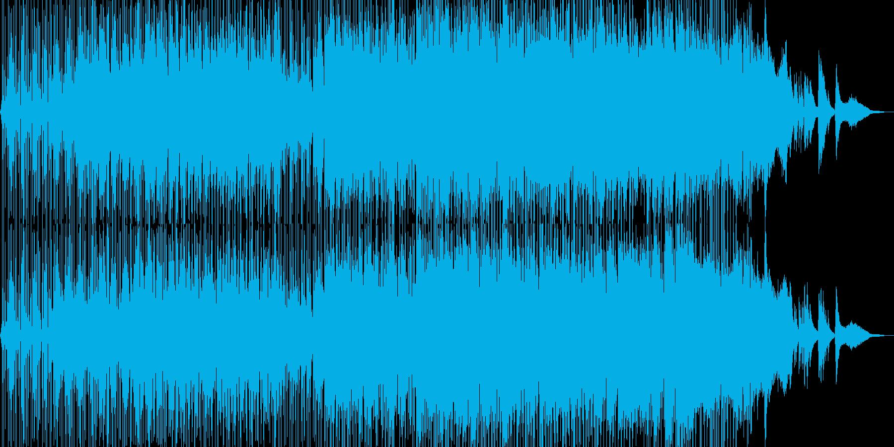 ミステリアスで無機質なヒップホップの再生済みの波形