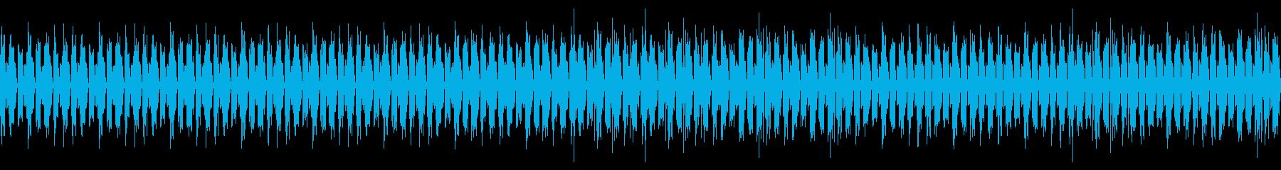 暗くて重い雰囲気のあるBGMですの再生済みの波形