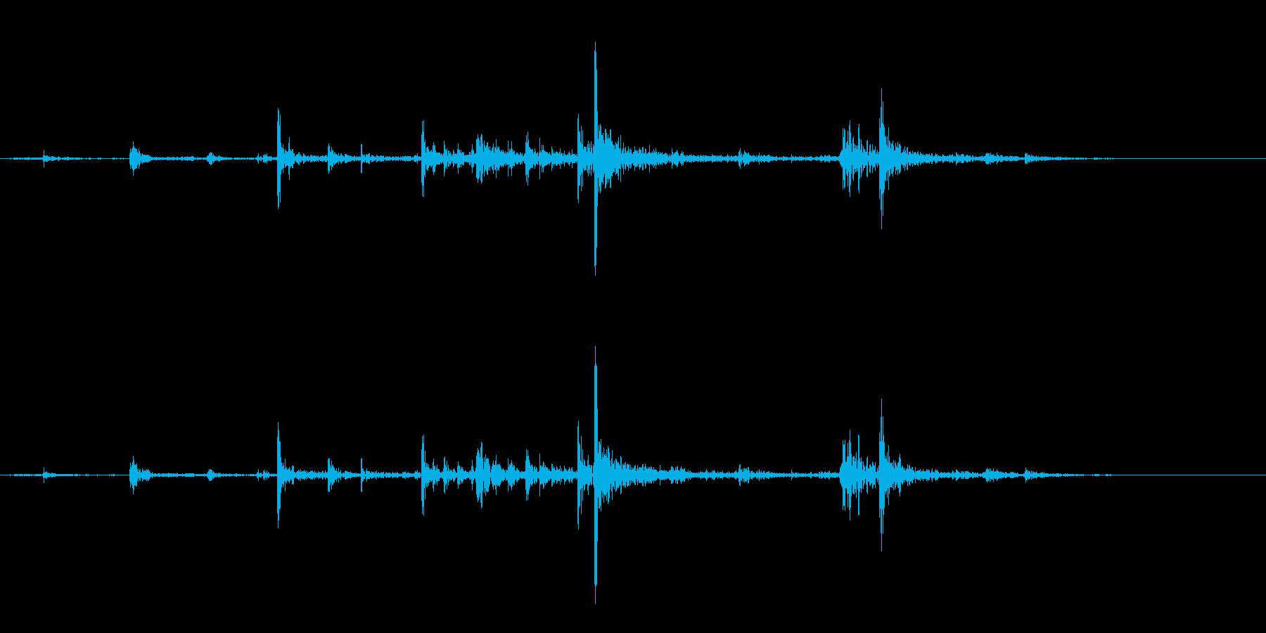 【生録音】弁当・惣菜パックの音 11の再生済みの波形