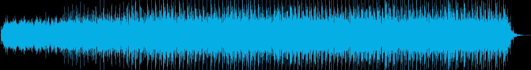 神秘的なテクノ系BGMの再生済みの波形