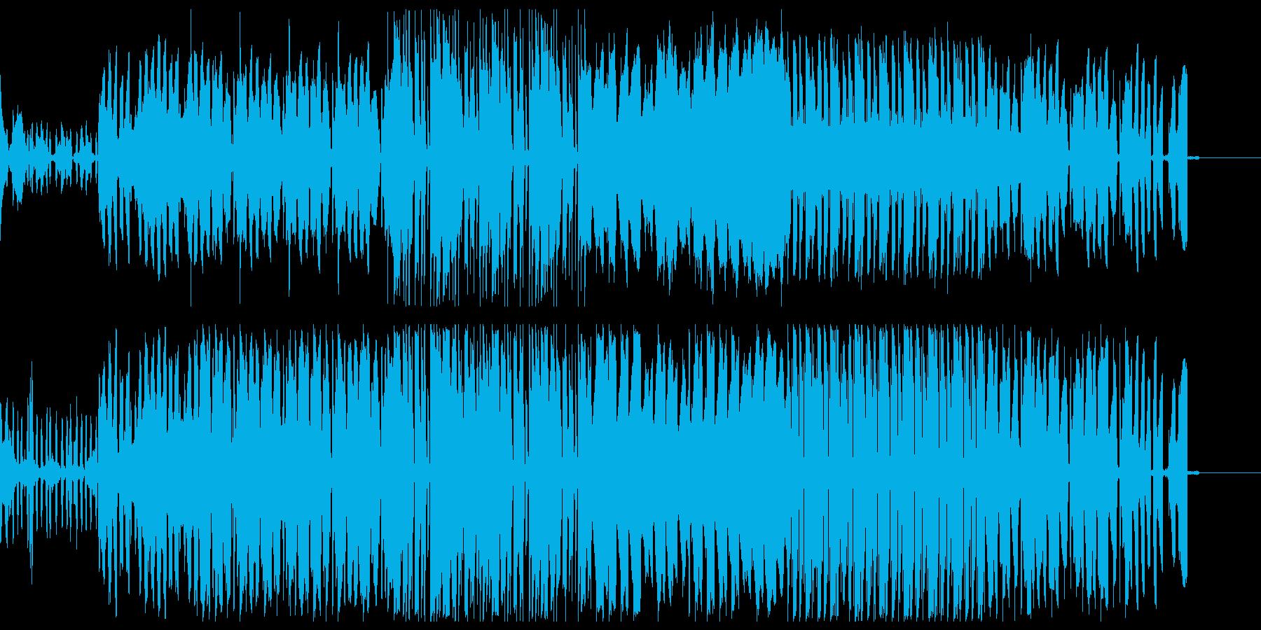 ブワブワしたノリのいいテクノの再生済みの波形