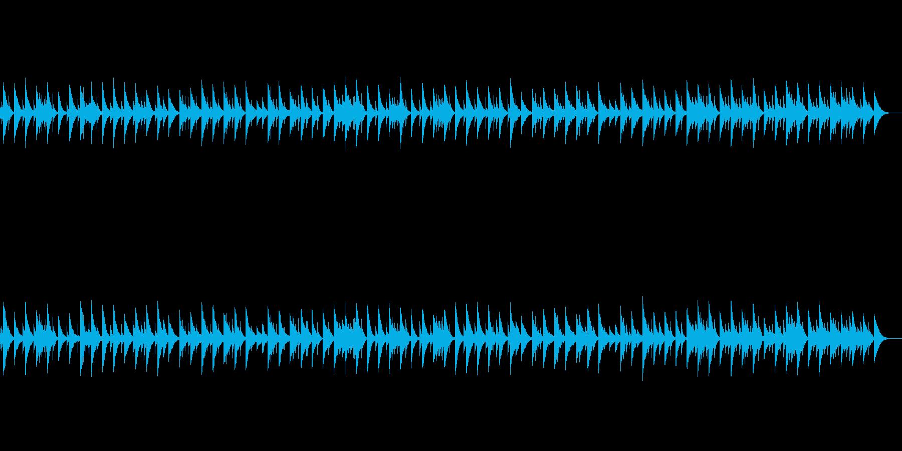 ヒーリング系癒やしのオールゴール楽曲の再生済みの波形