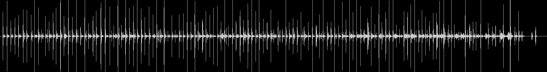 バイノーラル足音歩く2サンダル_前斜左の未再生の波形
