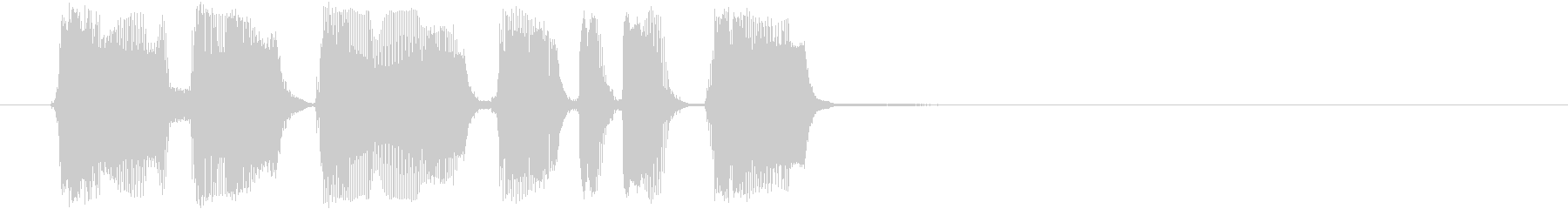 トランペットの勢いがあるアイキャッチの未再生の波形