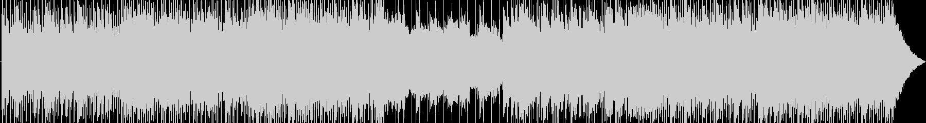 エネルギッシュなダンスミュージックの未再生の波形