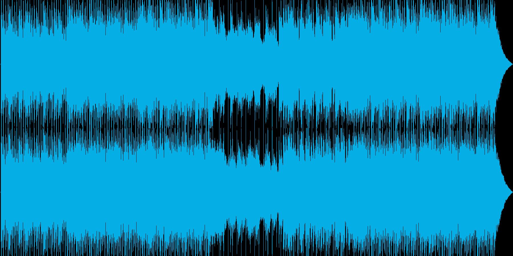 エネルギッシュなダンスミュージックの再生済みの波形