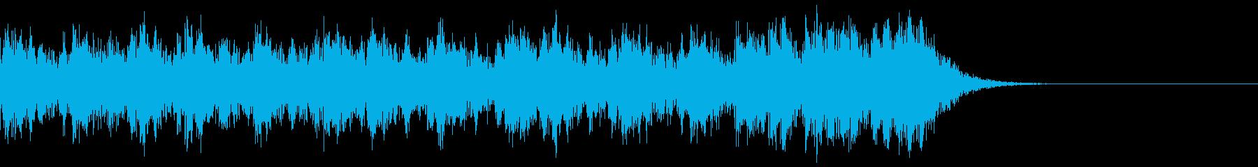 緊迫感のある太鼓の再生済みの波形