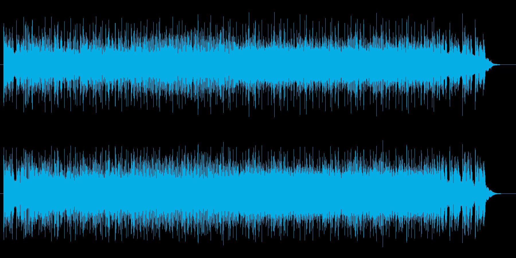 宇宙をイメージするブレイクビーツの再生済みの波形