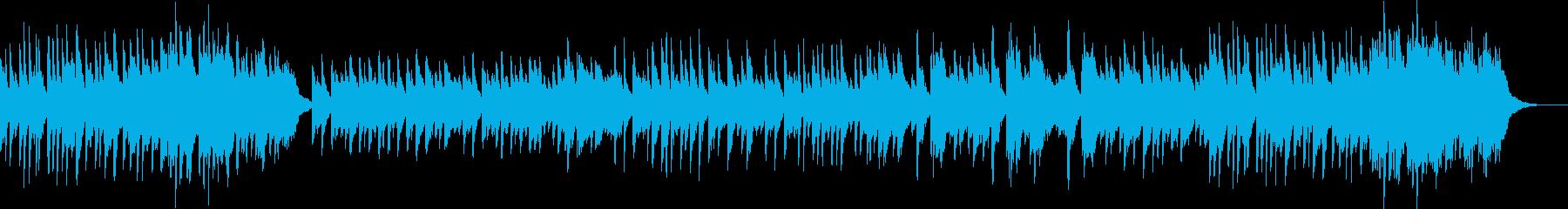 切ない旋律のピアノ曲の再生済みの波形