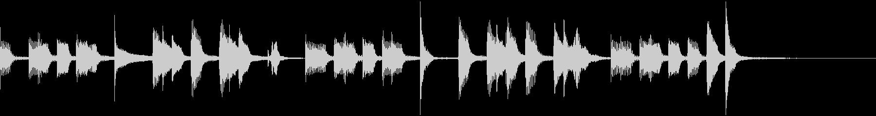 コマ送りの動きに合わせた可愛いモダン音楽の未再生の波形