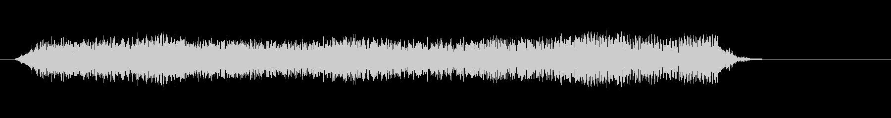 2「暗い、響く恐怖音」ゴーーォォオオーンの未再生の波形