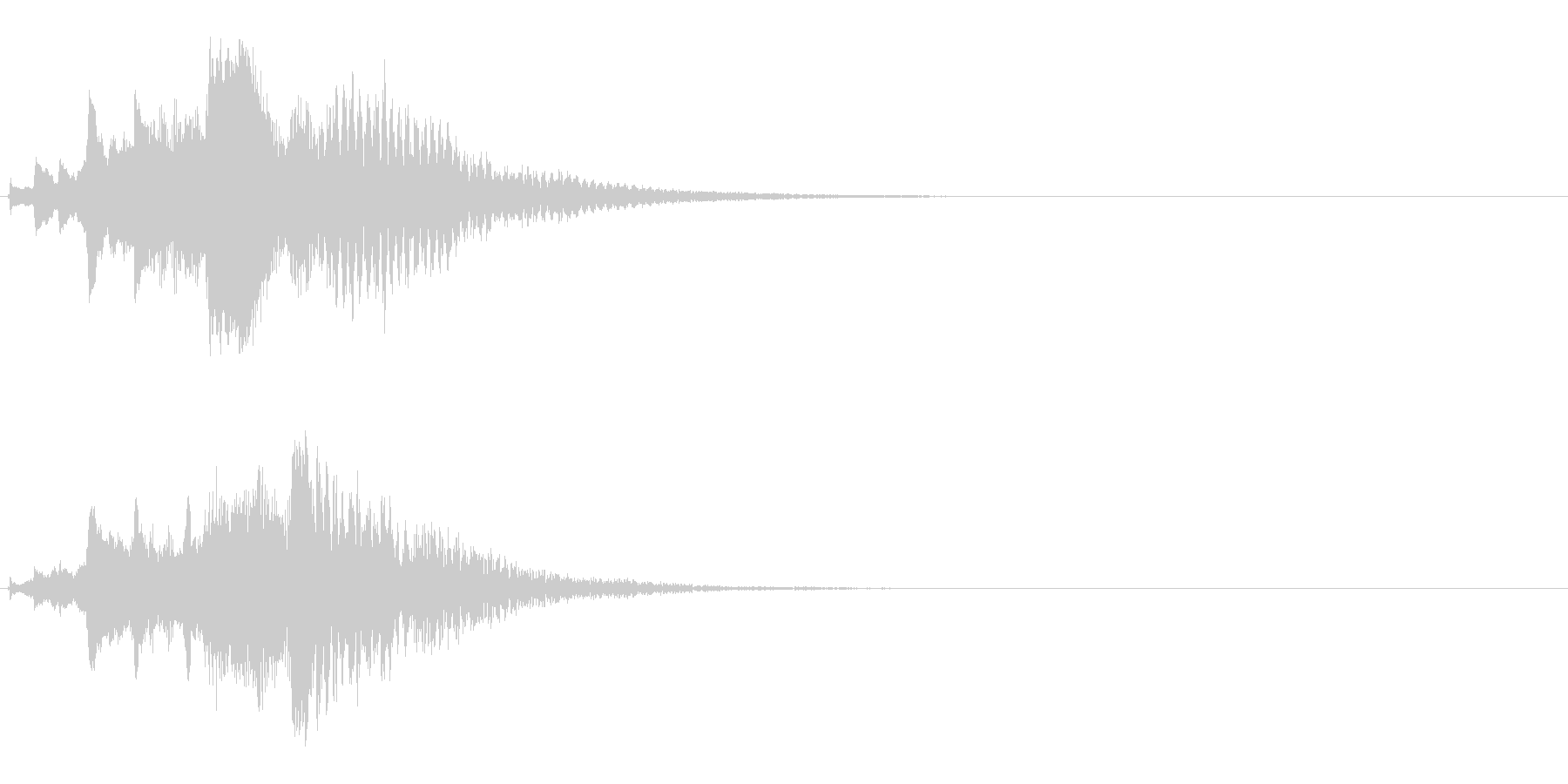 ハープ・下降_6-1の未再生の波形
