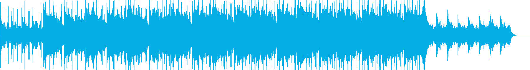 暗くも美しい洋楽風ロックBGMの再生済みの波形