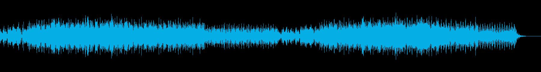 テンポ良く楽しいリズムのテクノサウンドの再生済みの波形