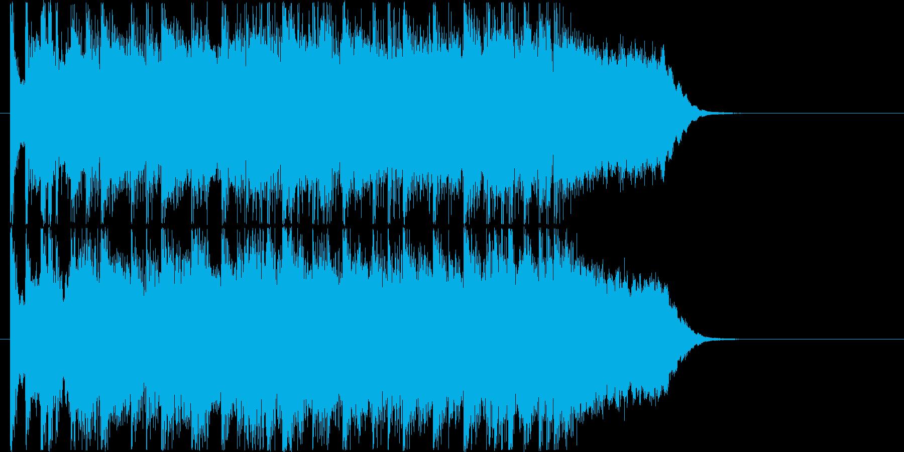 クールでカッコイイロックなエレキジングルの再生済みの波形