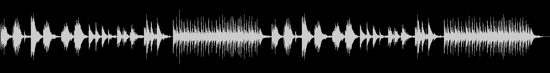 鳥の声と環境音楽のオープンワールド風の未再生の波形