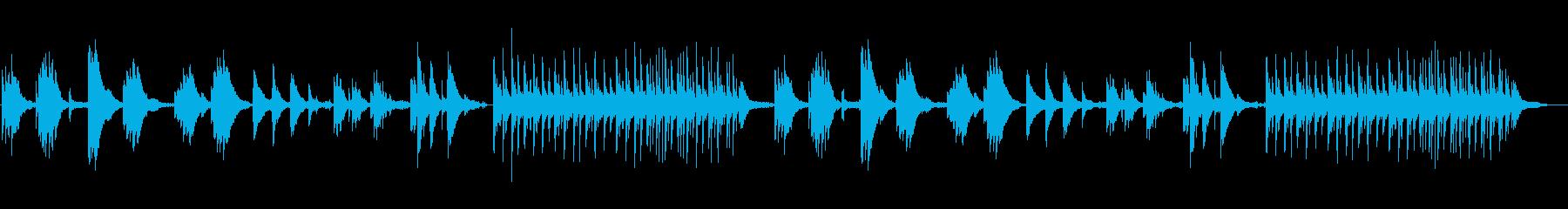 鳥の声と環境音楽のオープンワールド風の再生済みの波形