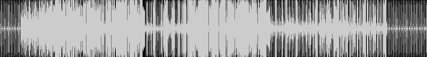 激しい曲ですの未再生の波形