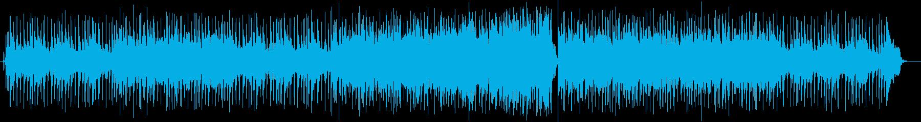 聞きやすい爽やかなBGMの再生済みの波形